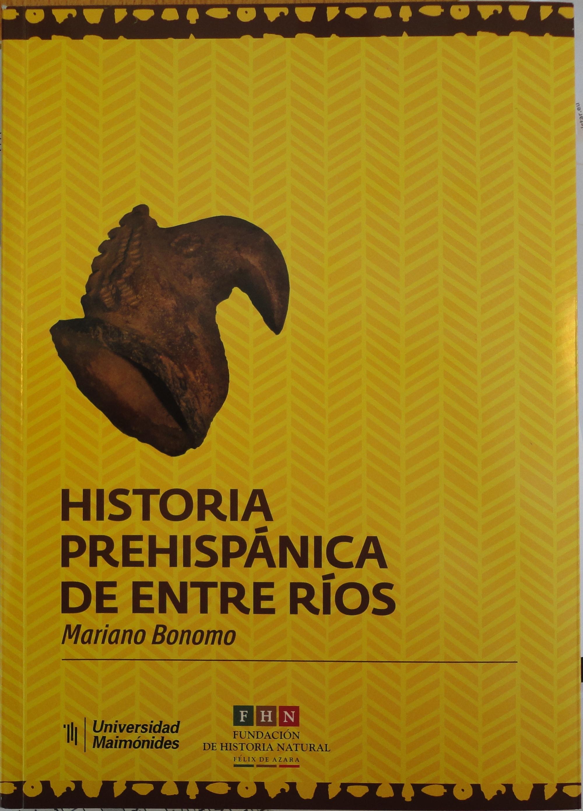 Tapa Historia Prehispánica de Entre Rios