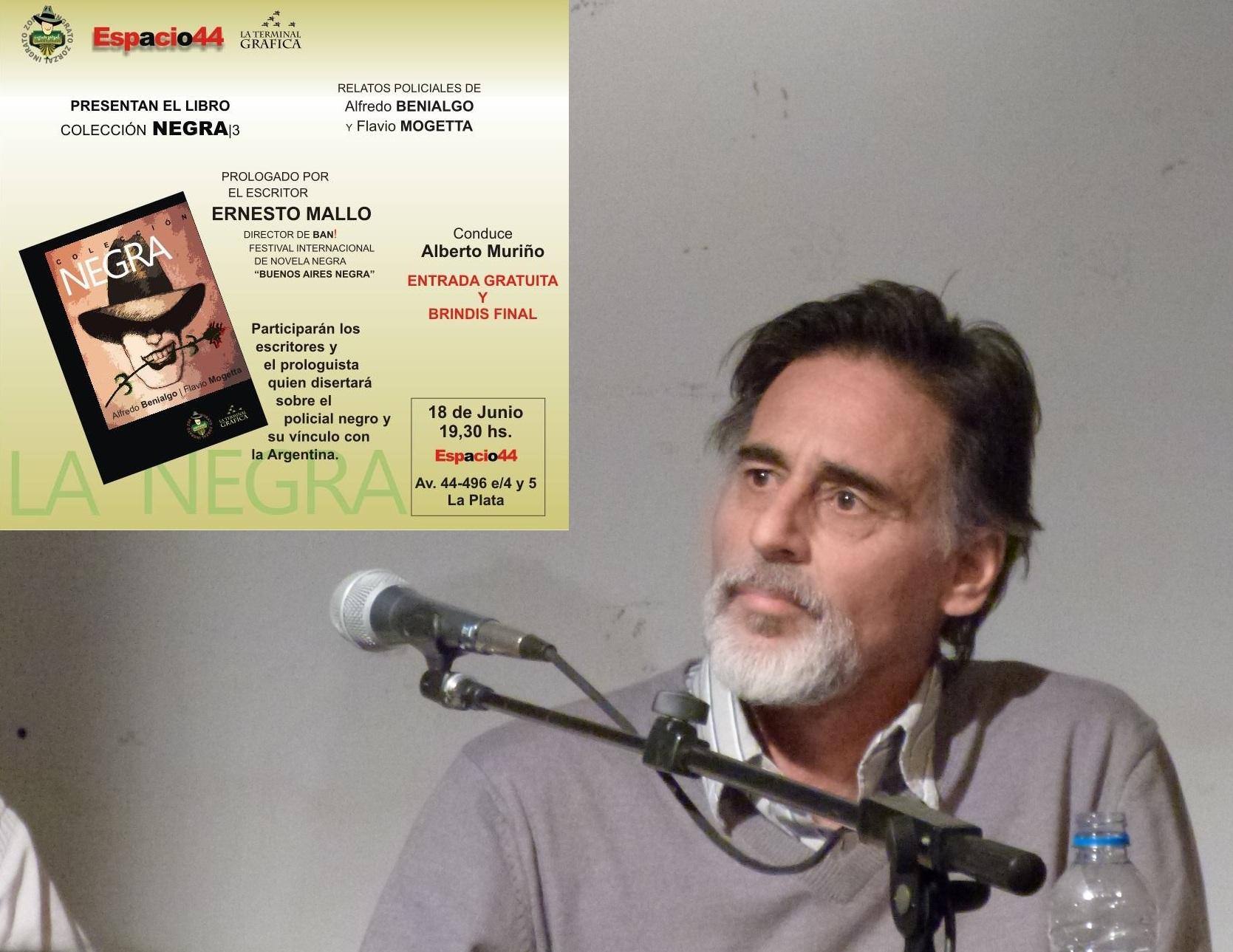 Alfredo Benialgo en la presentación de su último libro
