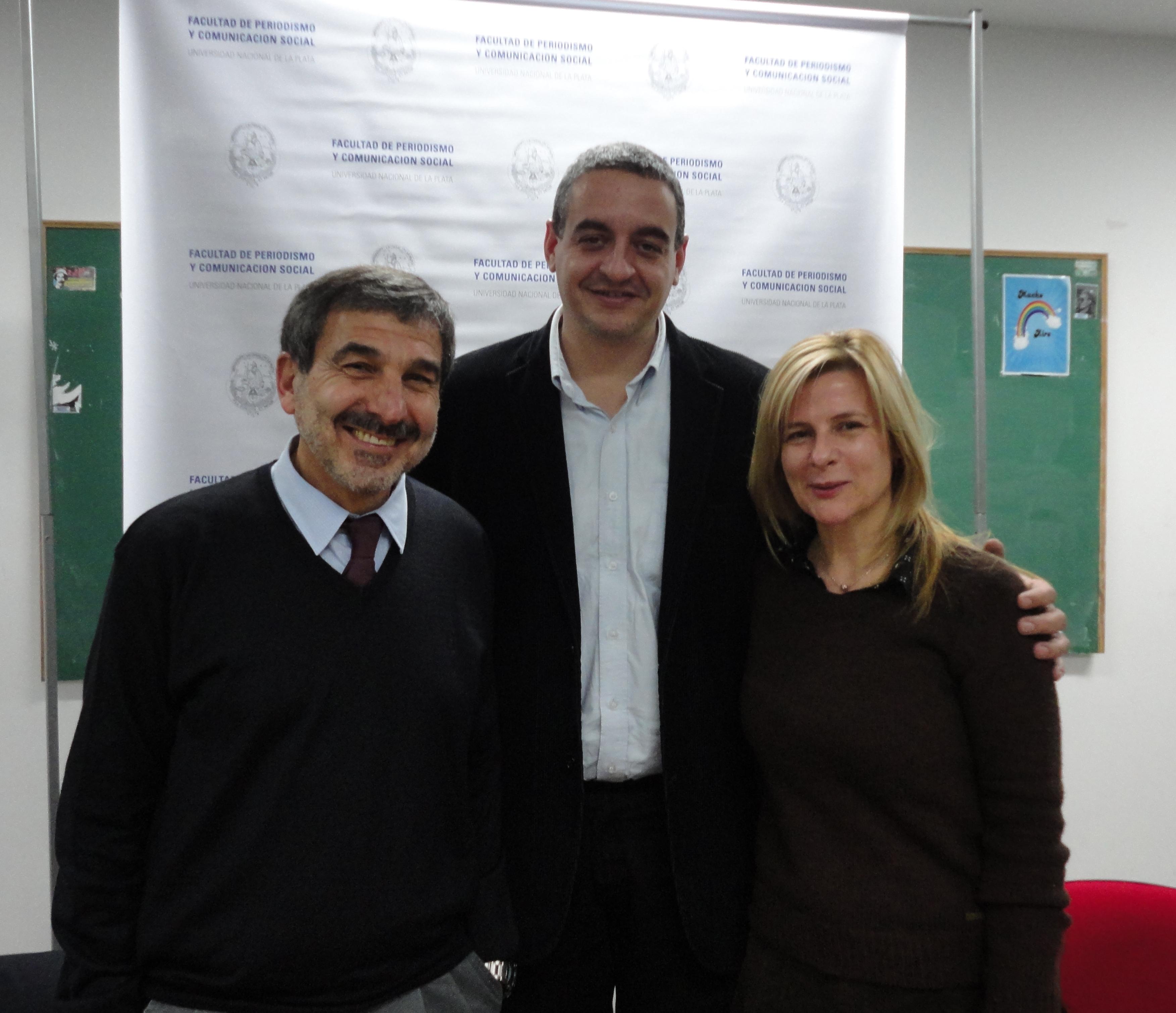 Roberto Salvarezza, Horacio Pietragalla Corti y Florencia Saintout