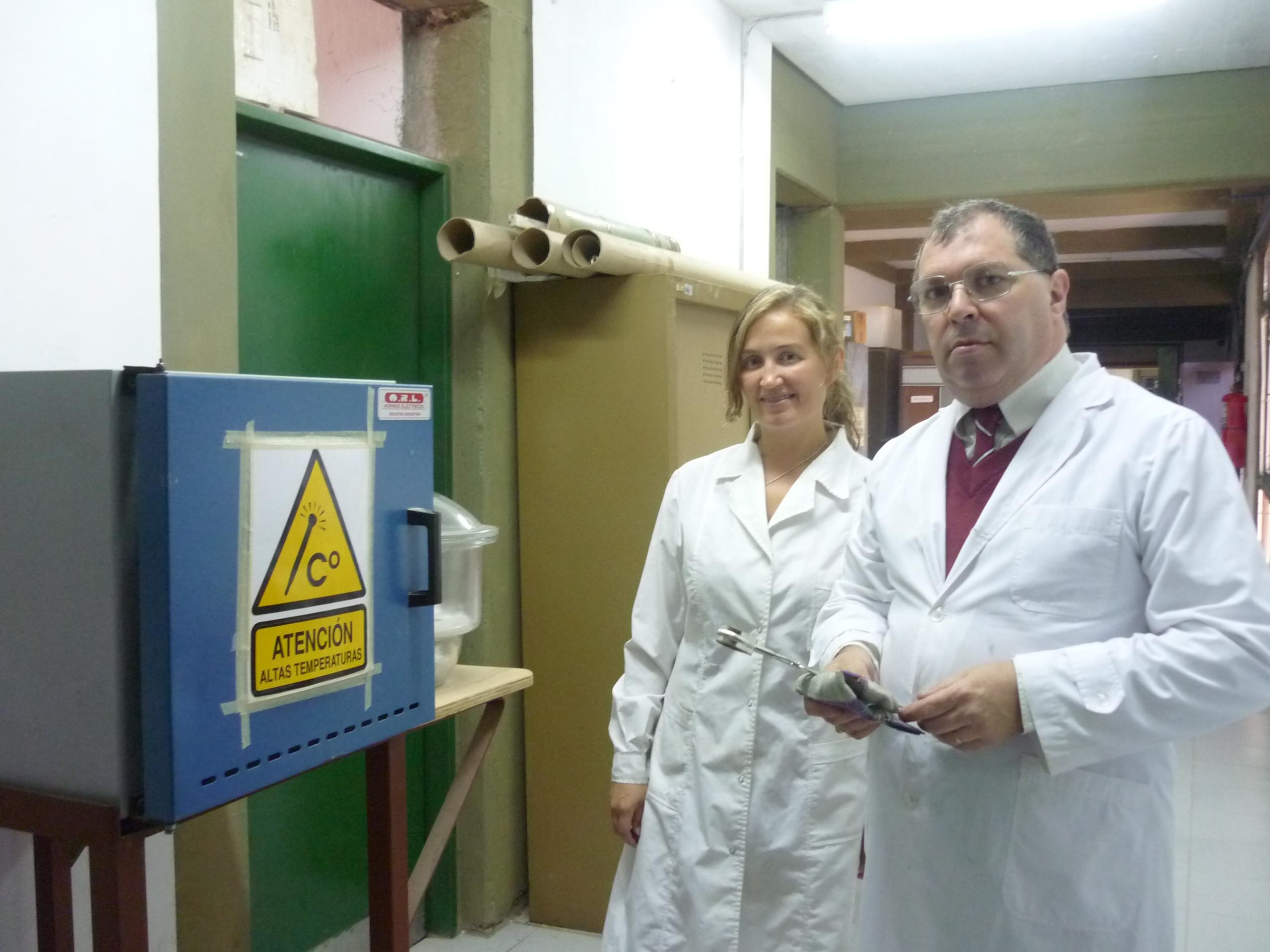 María Celeste Gardey Merino y su codirector Gustavo Lascalea, del LISAMEN