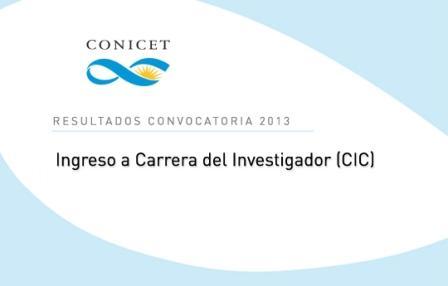 Resultados convocatoria 2013 CIC