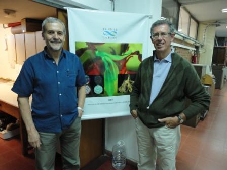 Doctores Epele y Aguilar en el IBBM