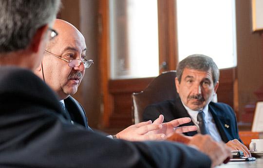 Fernando Tauber y Roberto Salvarezza