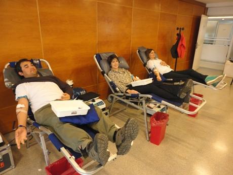Donación de sangre en el CONICET La Plata