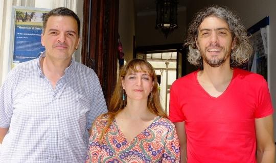 Omar Benvenuto, Melina Bersten y Gastón Folatelli