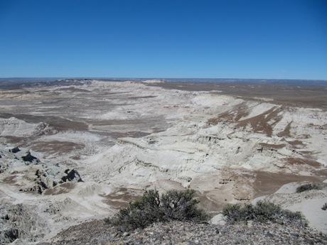 Vista panorámica de la zona de Gran Barranca, Chubut