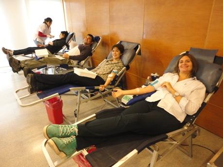 Donación de sangre en el CONICET