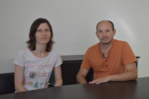 Luis Diambra y Alejandra Carrea. Foto CONICET