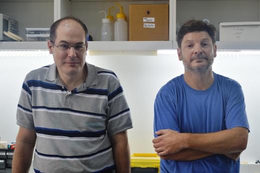 Santiago Grigera y Rodolfo Borzi. FOTO CONICET Fotografía