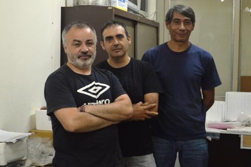 Marco Antonio Giovannetti, Gustavo Corrado y Sixto Giménez. FOTO CONICET Fotografía