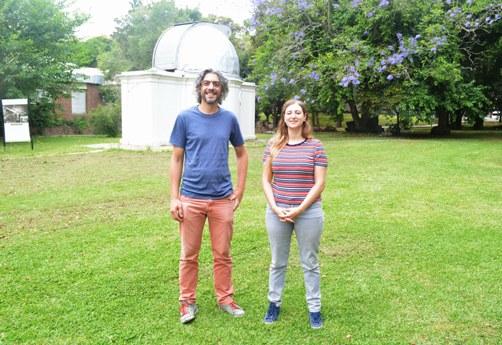 Gastón Folatelli y Melina Bersten. FOTO CONICET Fotografía
