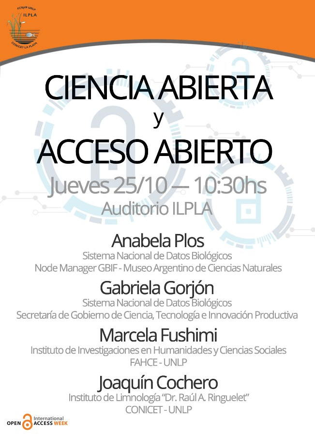 Banner charla Open Science