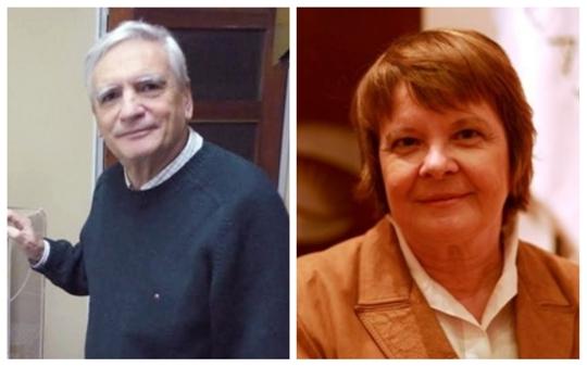 María Cristina Añón y Carlos Rapela